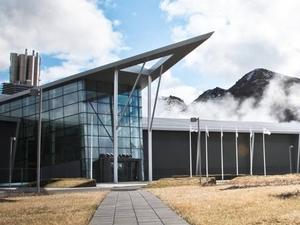 Exposición de Energía Geotérmica en la central eléctrica Hellisheiði