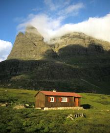 View Of The Giklingdalshytta In Innerdalen