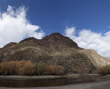 Gila River Near Coolidge Dam