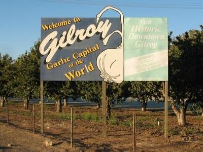 Gilroy Welcome Sign