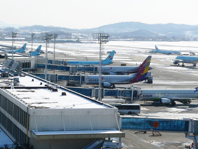 Gimpo International Airport Planes