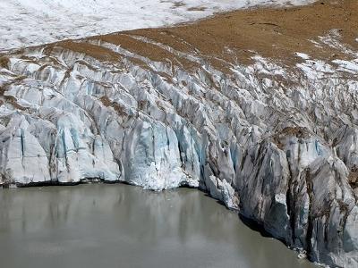 Glaciar Torre Pushing Into Laguna Torre