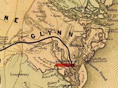 Glynn  County In  1 8 6 4