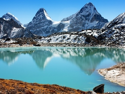 Gokyo Lakes On Way To Cho Oyu Base Camp - Nepal Himalayas