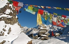 Gokyo Ri Prayer Flags