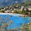 Golden Beach In Thassos Greece