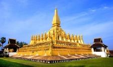 Golden Wat Thap Luang In Vientiane