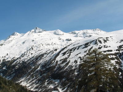 View Of The Mountains From Oberwald