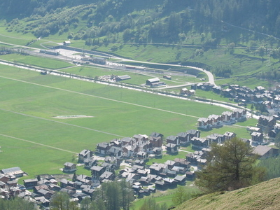 View On Oberwald From Above