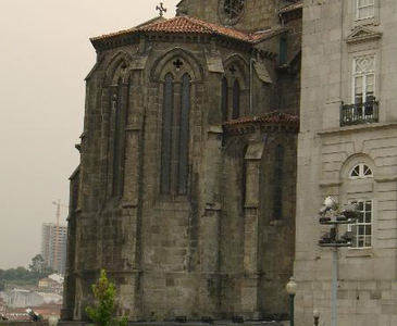 Gothic Apse Of The Church Of Sao Francisco.