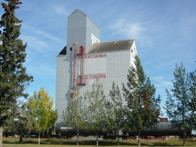 Grain  Elevator  Rosthern  Saskatchewan