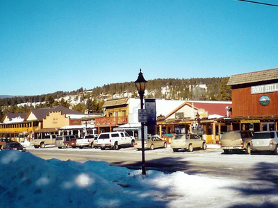 Grand Lake Village In Winter