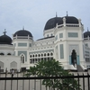 Grand Medan Mosque View In Sumatra ID