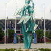 Bronze Statue At The USTA National Tennis Center
