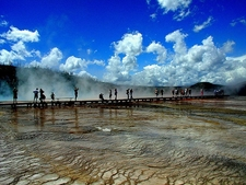 Grand Prismatic Hot Spring @ Yellowstone NP