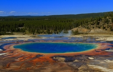 Grand Prismatic Spring From Above - Yellowstone NP