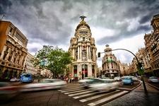 Gran Via Madrid - Low Traffic