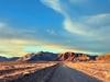 Gravel Road Between Pampas - Argentina Patagonia