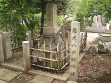 Grave Of Hidesaburō Ueno And Monument To Hachikō