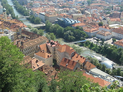 Graz Vista Desde El Schlossberg