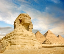 Great Sphinx Of Giza & Pyramid