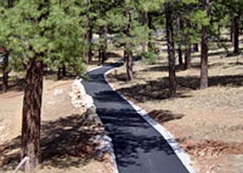 Greenway Trail Near Train Depot - Grand Canyon - Arizona - USA