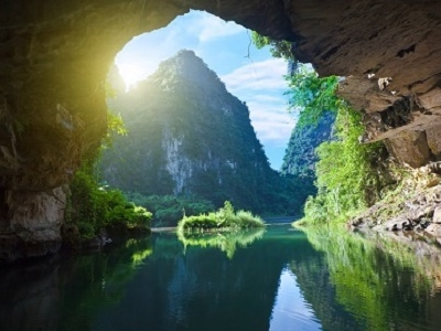 Grotto In Tam Coc National Park