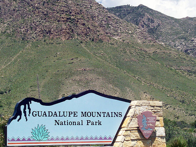 Guadalupe Mountains National Park Entrance