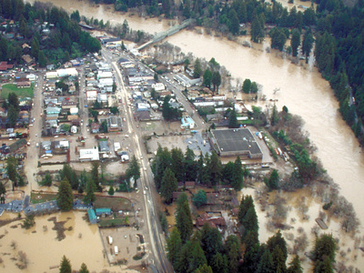 Guerneville  California Flooding