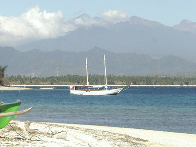 Gunung Rinjani Seen From Gili Air
