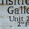 The Sign Outside The Gallery