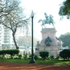 View Of Monument To Giuseppe Garibaldi