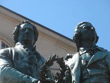 Goethe Schiller Statue Weimar