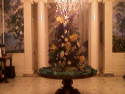 Governors Mansion With Mardi Gras