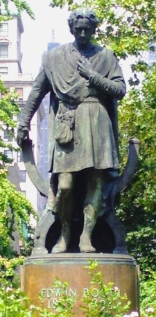 The Statue Of Edwin Booth