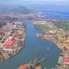View Of The Estuary And Port From Rontegi Bridge