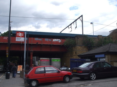 Hackney Downs Station Entrance