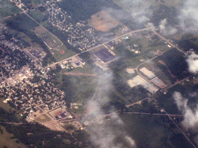 Hagerstown From The Air Looking Northeast.