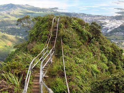 Haiku Stairs View