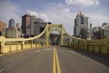 Halfway Through Roberto Clemente Bridge - Pittsburgh PA