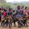 Hamer Dancers In Ethiopia