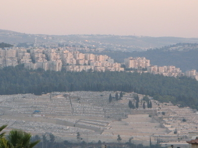 The Cemetery With Har Nof In The Background