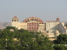 A Panoramic View Of The Hawa Mahal