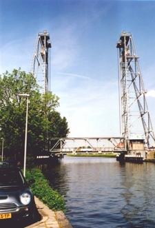 Lift Bridge At Waddinxveen Crossing The Gouwe