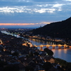 Heidelberg With The Old Bridge Illuminated