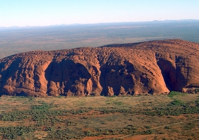 Helicopter View Of Uluru