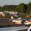 Aircraft And Helicopters At Helsinki Malmi Airport.