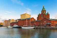 Helsinki Old Town With Uuspenski Orthodox Cathedral - Finland