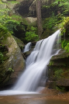Hidden Falls In Hocking Hills State Park - OH
