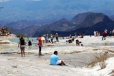 Hierve El Agua - Natural Lower Artificial Pool